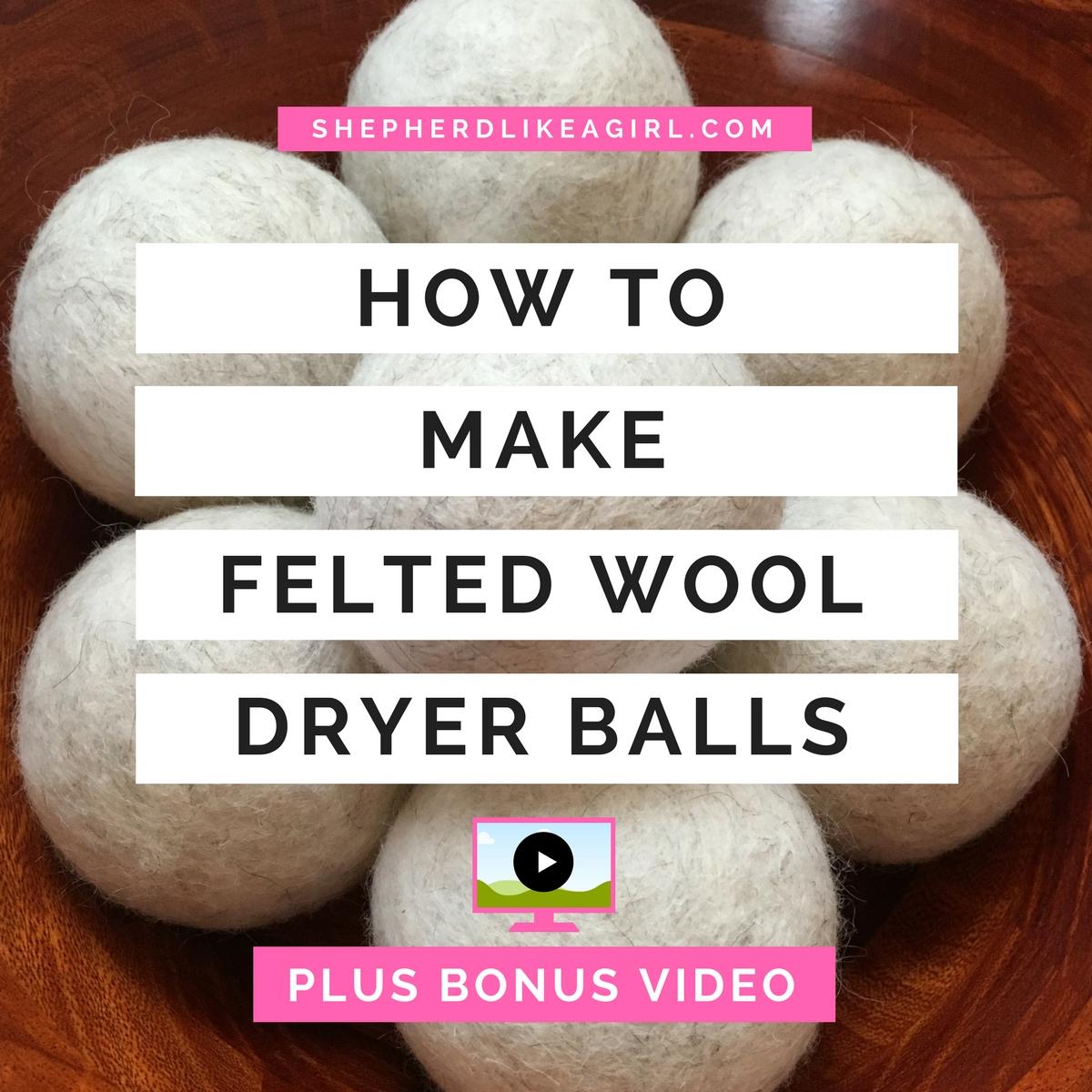 how to make felted wool dryer balls diy sheep crafts. Black Bedroom Furniture Sets. Home Design Ideas