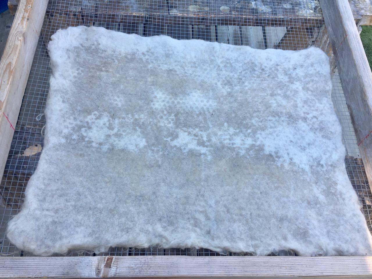Diy Sheep Crafts How To Make A Felted Fleece Rug Shepherd Like