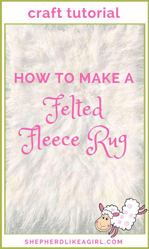 That S Why I M Delighted To Share With You This Diy Sheep Craft Tutorial On How Felt A Lamb Fleece Rug