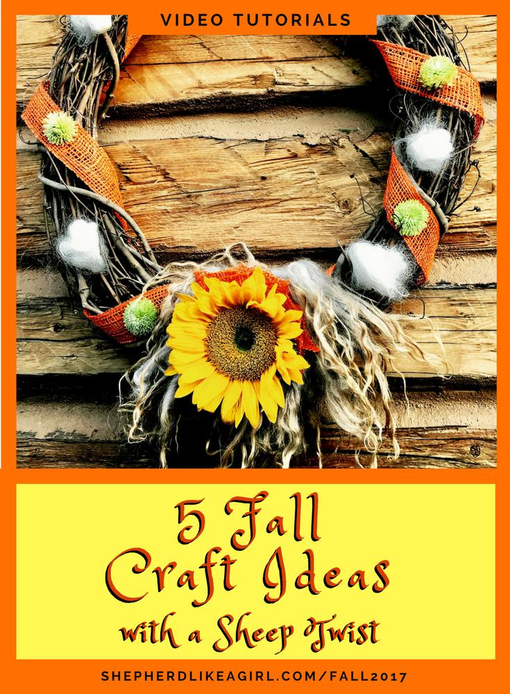 Fall Craft Ideas Part - 42: 5 Fall Craft Ideasu2026 With A Sheep Twist!