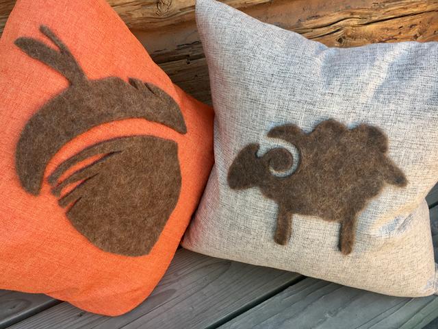 5-Day FALL Craft Challenge | Homemade Felt Silhouette Pillows | DIY Sheep Crafts