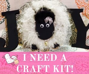 "Make Your Own Sheep Letter ""O"" for Home Decor Tutorial Craft Kit 