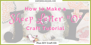 "Make Your Own Sheep Letter ""O"" for Home Decor Tutorial 