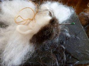 DIY Sheep Crafts | How to Needle Felt a Roving Angel | Shepherd Like A Girl